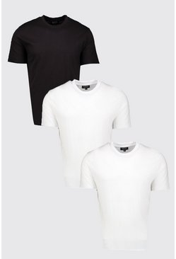 Lot de 3 t-Shirts oversize, Multi, Homme