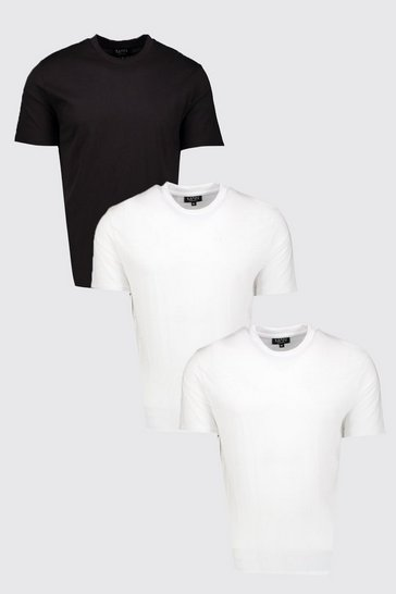 Mens Multi 3 Pack Oversized Fit T-Shirts