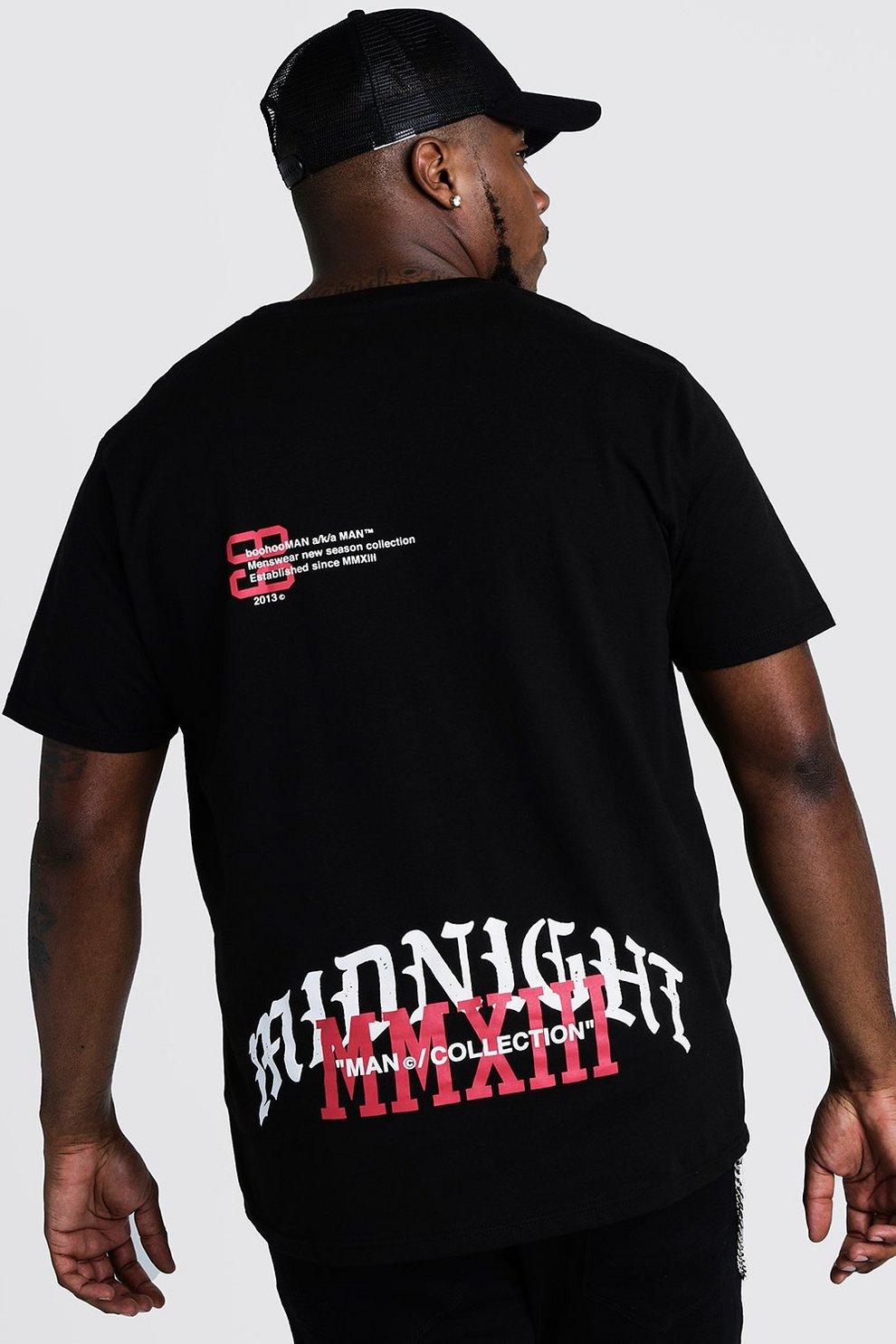 cheap for discount 4b402 a6c5a Große Größen T-Shirt mit Print vorn und hinten