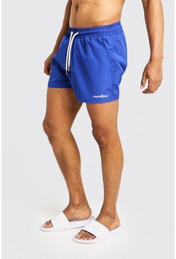 Mens Cobalt MAN Official Short Length Swim Short