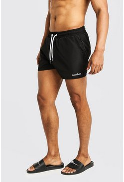 Black MAN Official Short Length Swim Short