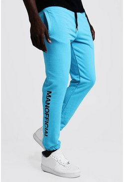 Herr Bright blue MAN Official Puff Print Neon Joggers