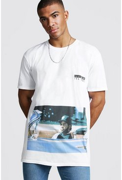Herr White Oversized Ice Cube Rolling License T-Shirt