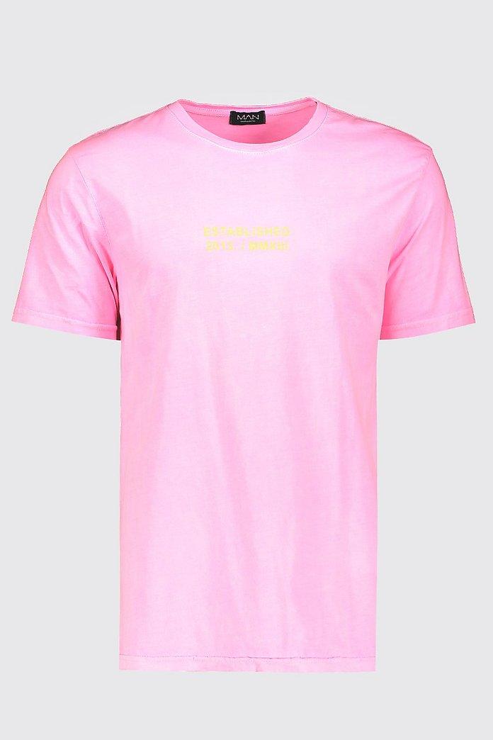 Loose Fit MAN Drip Print T Shirt | boohoo