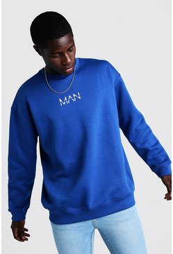 Cobalt Oversized Original MAN Sweater