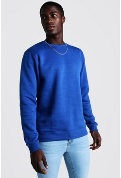 Mens Cobalt Crew Neck Sweatshirt