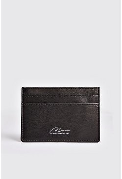 Mens Black Money Clip Card Holder