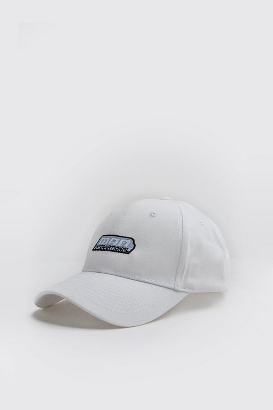 Mens White MAN International Embroidered Cap