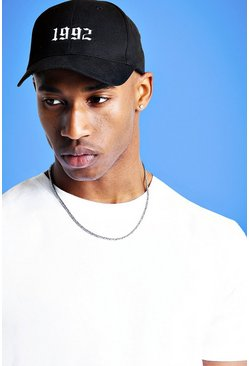 Mist 1992 Embroidered Cap, Black, HOMMES