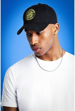 Mens Black Mist Embroidered Cap