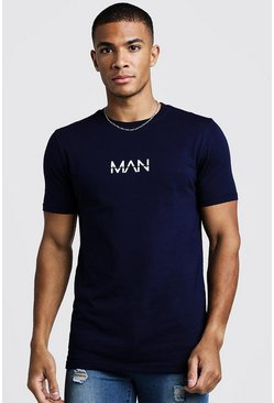 T-shirt original MAN Coupe fit, Marine, Homme
