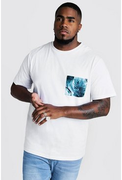 Herr White Big And Tall T-Shirt With Botanical Print
