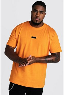Herr Orange Big And Tall MAN Dash Woven Tab T-Shirt