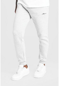 Jogging coupe slim MAN Signature, Gris, Homme