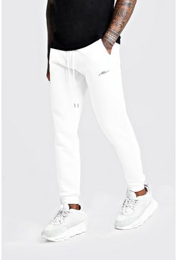 Herr White MAN Signature Skinny Fit Jogger