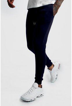 Mens Navy Super Skinny Joggers