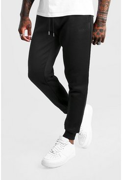 Mens Black MAN Dash Slim Fit Joggers