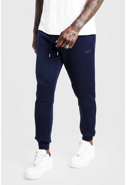 Jogging coupe slim MAN Dash, Marine, Homme