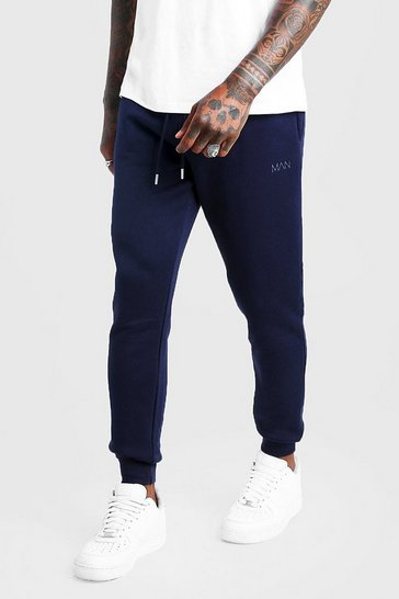 Mens Navy MAN Dash Slim Fit Joggers