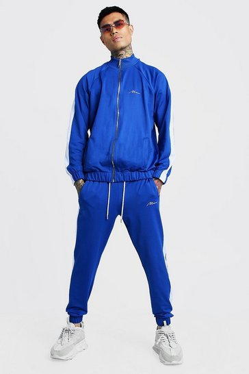 dbe05347 Tricot MAN Funnel Neck Tracksuit With Panels