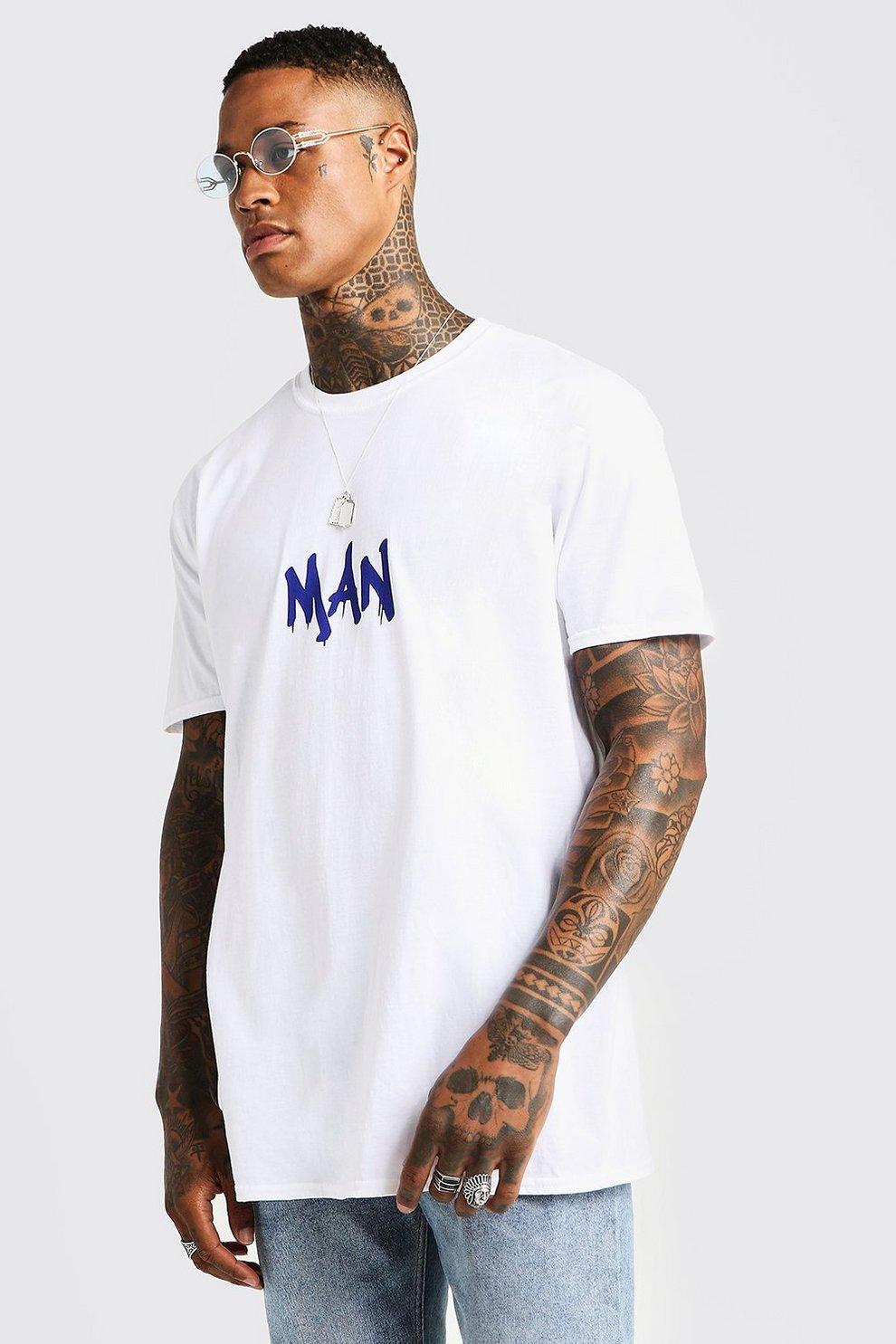 97f0b21e6 MAN Oversized Gentleman Back Print T-Shirt | Boohoo