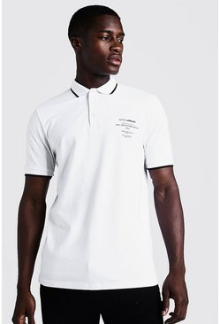 Mens White Limited Edition Polo