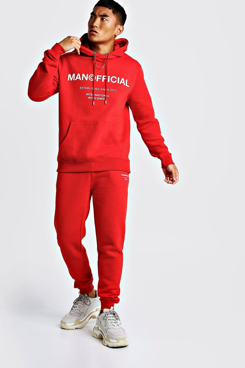 5a08a0e97b MAN Official Hooded Tracksuit | Boohoo