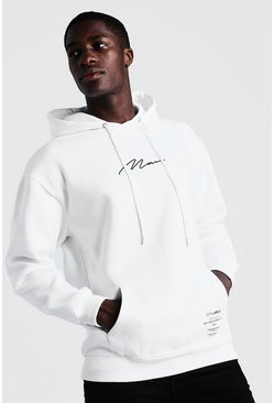 Herr White MAN Limited Edition Loose Fit Hoodie