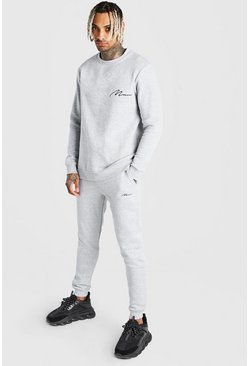Grey MAN Sweater Regular Fit Tracksuit