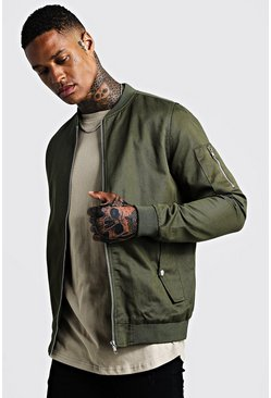Khaki Cotton MA1 Bomber Jacket