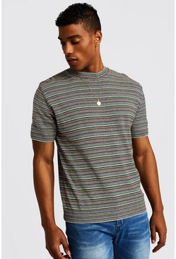 Multi Coloured Knitted T-Shirt, HOMBRE