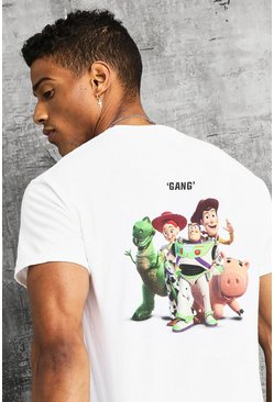 Disney Toy Story Front & Back Print T-Shirt, White, HERREN