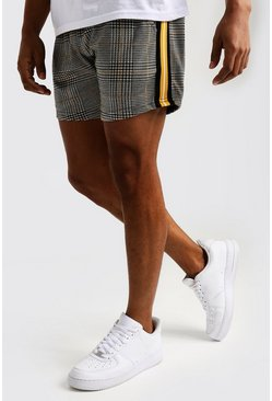 Mustard Check Jacquard Short Length Tape Short