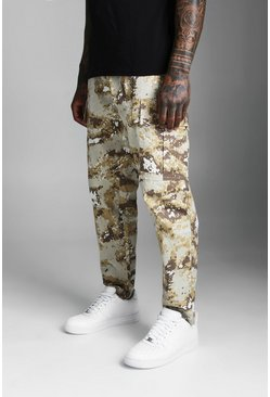 Mens Brown Camo Cargo Trouser