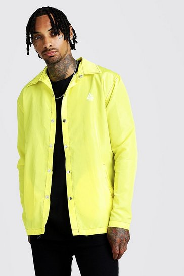 MAN Coach Jacket With Topstitching