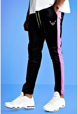 Mens Pink Mist Tapered Joggers