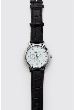 Mens White Multi Dial Classic Watch