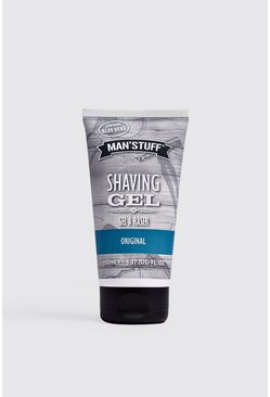 MAN Stuff Shaving Gel, Clear, Uomo