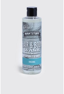 MAN Stuff Hair & Body Wash, Clear, HERREN