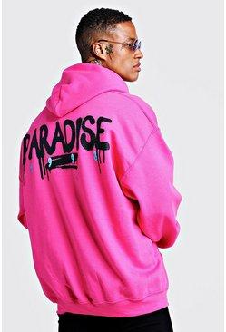 überlegene Leistung Steckdose online Großhändler Oversized Hoodie mit Paradise-Print
