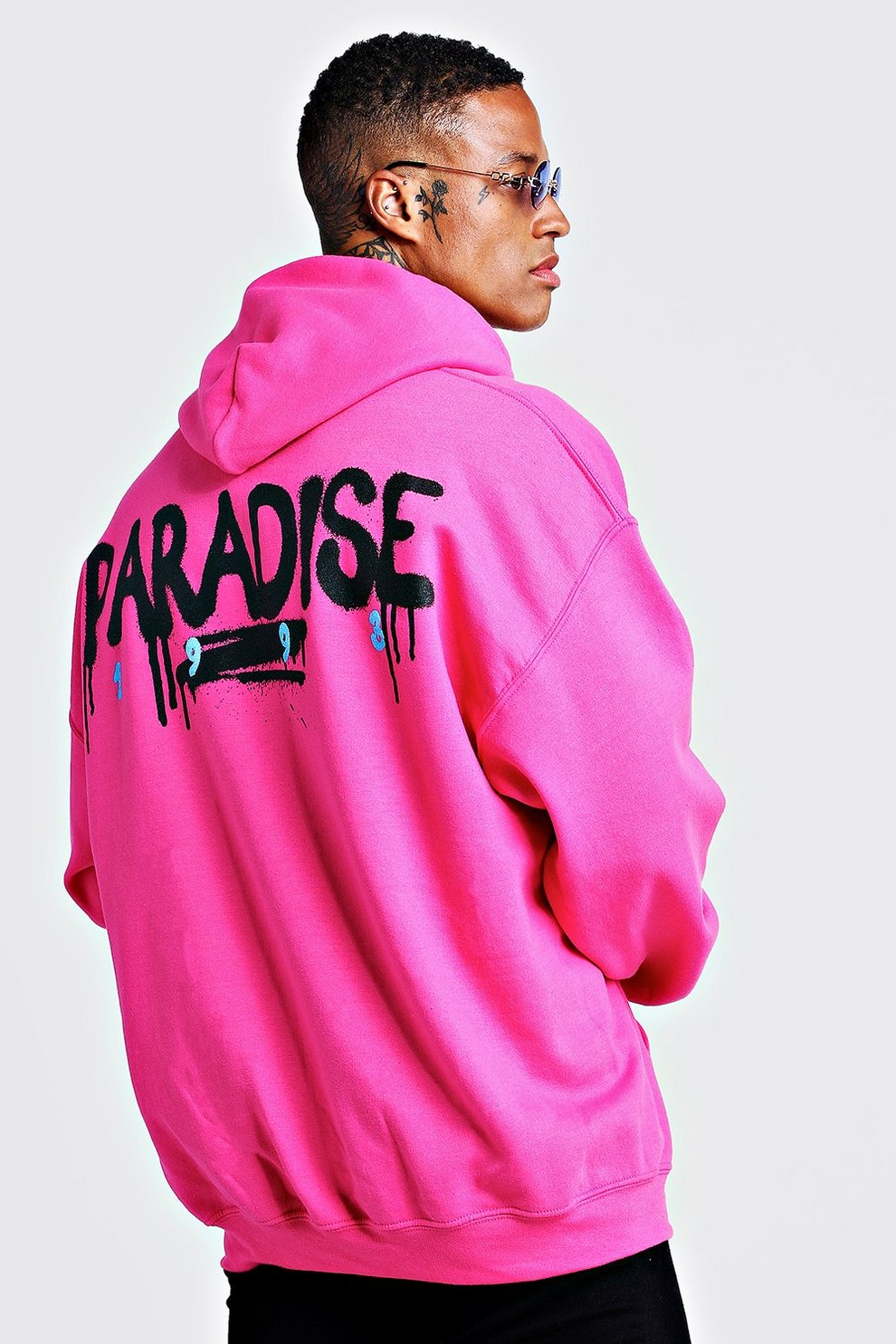 cheap for discount d643f f38b1 Oversized Hoodie mit Paradise-Print