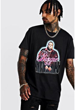 Mens Black Oversized Biggie License T-Shirt