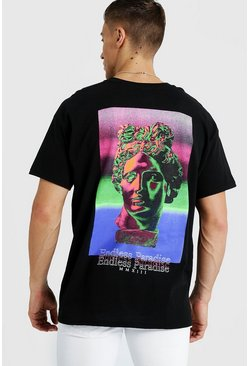 Oversized Endless Paradise T-Shirt, Black, HOMBRE
