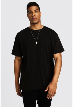 Mens Black Basic Loose Fit T-Shirt