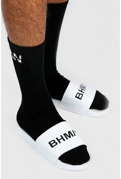 Mens White BHM1 Print Slider