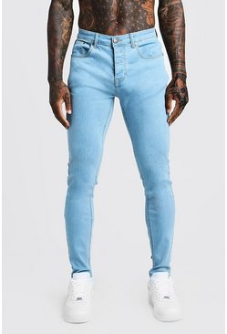 Mens Pale blue Skinny Fit Denim Jeans