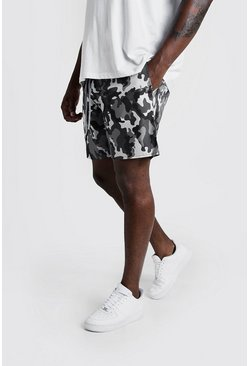 Herr Big & Tall Mid Length Swim Short in Camo