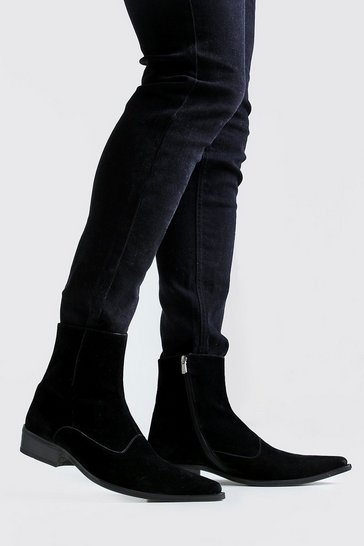 Imitation Suede Western Boot