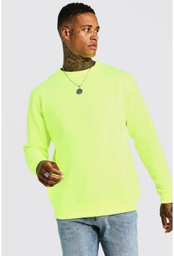 Mens Neon-yellow Neon Yellow Sweater