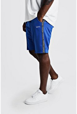Mens Cobalt Big & Tall Tricot Shorts With MAN Tape